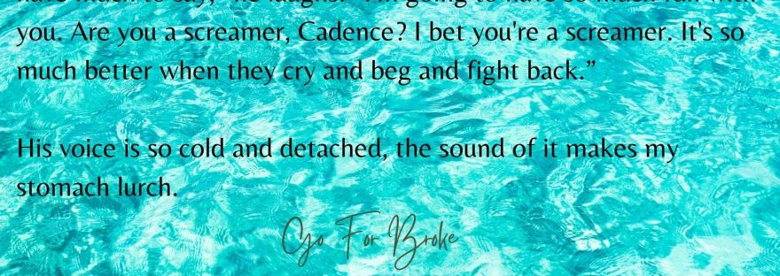 Are You A Screamer - Excerpt Go For Broke by Daisy Knox